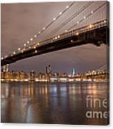 Brooklyn Bridge Lights Canvas Print