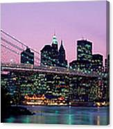 Brooklyn Bridge New York Ny Usa Canvas Print