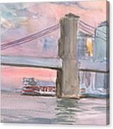 Brooklyn Bridge Sunset 2013 Canvas Print