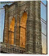 Brooklyn Bridge Tower Canvas Print