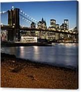 Brooklyn Bridge View Canvas Print