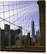 Brooklyn Bridge View Canvas Print