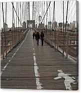 Brooklyn Bridge Walkway Canvas Print