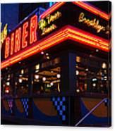 Brooklyn Diner Usa Canvas Print