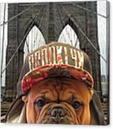 Brooklyn Dog Canvas Print