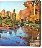 Brookside Garden Canvas Print