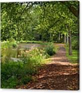 Brookside Garden Walk Canvas Print