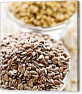 Brown And Golden Flax Seed Canvas Print