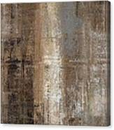 Slender - Grey And Brown Abstract Art Painting Canvas Print