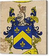 Brown Coat Of Arms - England Canvas Print