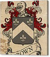 Brown Coat Of Arms - Scotland Canvas Print