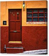 Brown Door In Mexico Canvas Print