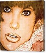 Brown Eyed Brunette Canvas Print