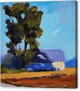 Brown Farm Landscape Canvas Print