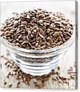 Brown Flax Seed Canvas Print