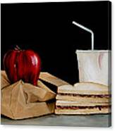 Brown Lunch Bag Canvas Print