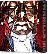 Brownhills Miner Face Canvas Print