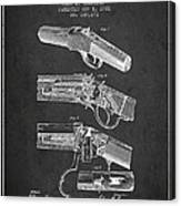 Browning Rifle Patent Drawing From 1921 - Dark Canvas Print