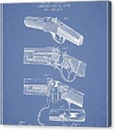 Browning Rifle Patent Drawing From 1921 - Light Blue Canvas Print