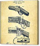 Browning Rifle Patent Drawing From 1921 - Vintage Canvas Print