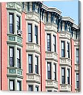 Brownstone Art Hoboken Nj Canvas Print