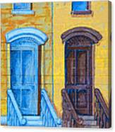 Brownstone Mural Art Canvas Print