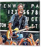 Bruce Springsteen At Fenway Park Canvas Print