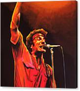 Bruce Springsteen Painting Canvas Print