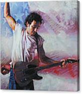 Bruce Springsteen The Boss Canvas Print