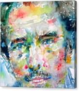 Bruce Springsteen Watercolor Portrait.1 Canvas Print