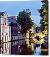 Brudges Canal Bridge Canvas Print