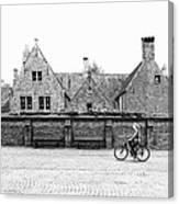 Bruges Cyclist Canvas Print