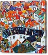 Bruges Rooftops Canvas Print