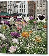 Brugge In Spring Canvas Print