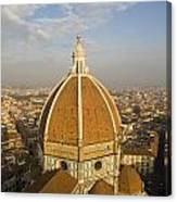 Brunelleschi's Dome At The Basilica Di Santa Maria Del Fiore Canvas Print