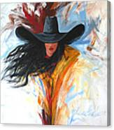 Brushstroke Cowgirl Canvas Print