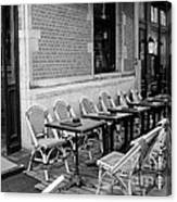 Brussels Cafe In Black And White Canvas Print