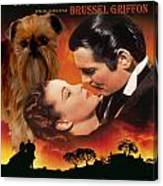 Brussels Griffon Art - Gone With The Wind Movie Poster Canvas Print