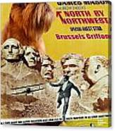 Brussels Griffon Art - North By Northwest Movie Poster Canvas Print