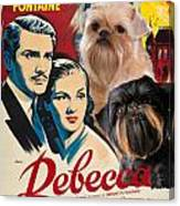 Brussels Griffon Art - Rebecca Movie Poster Canvas Print