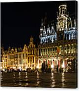 Brussels - The Magnificent Grand Place At Night Canvas Print