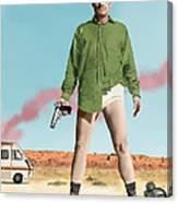 Bryan Cranston As Walter White  @ Tv Serie Breaking Bad Canvas Print