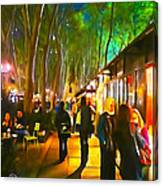 Bryant Park Evening Canvas Print