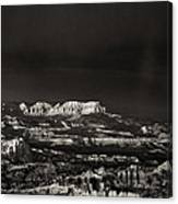 Bryce Canyon Formations In Black And White Canvas Print