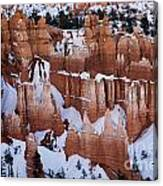 Bryce Canyon In Winter 2 Canvas Print