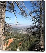 Bryce Canyon Overlook With Dead Trees Canvas Print