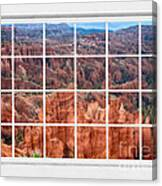 Bryce Canyon White Picture Window View Canvas Print