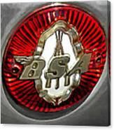 Bsa Badge Canvas Print