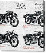 Bsa Motor Cycles For 1936 Canvas Print