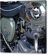 Bsa Motorcycle Canvas Print